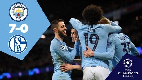 City 7-0 Schalke: Full match replay