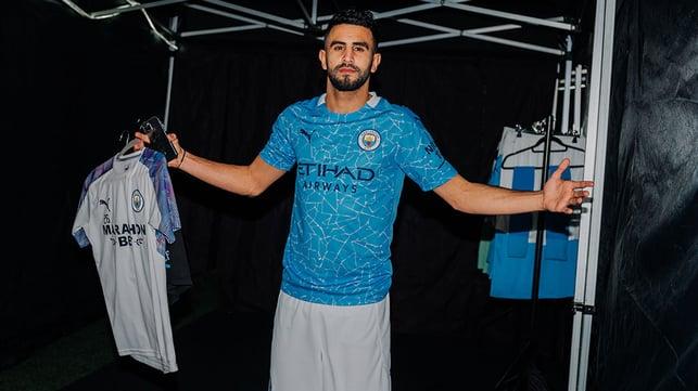 Riyad Mahrez no vestiário
