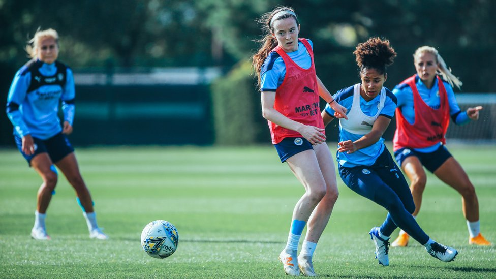 EYES ON THE PRIZE: Rose Lavelle and Demi Stokes step up the intensity