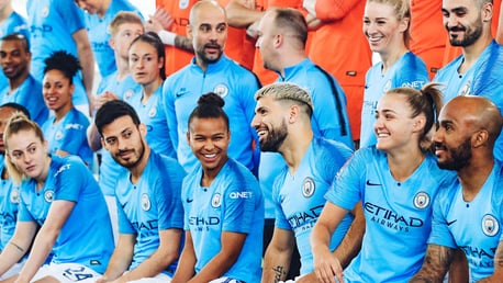 CENTRE STAGE: Nikita Parris and Sergio Aguero have every reason to smile given their superb form