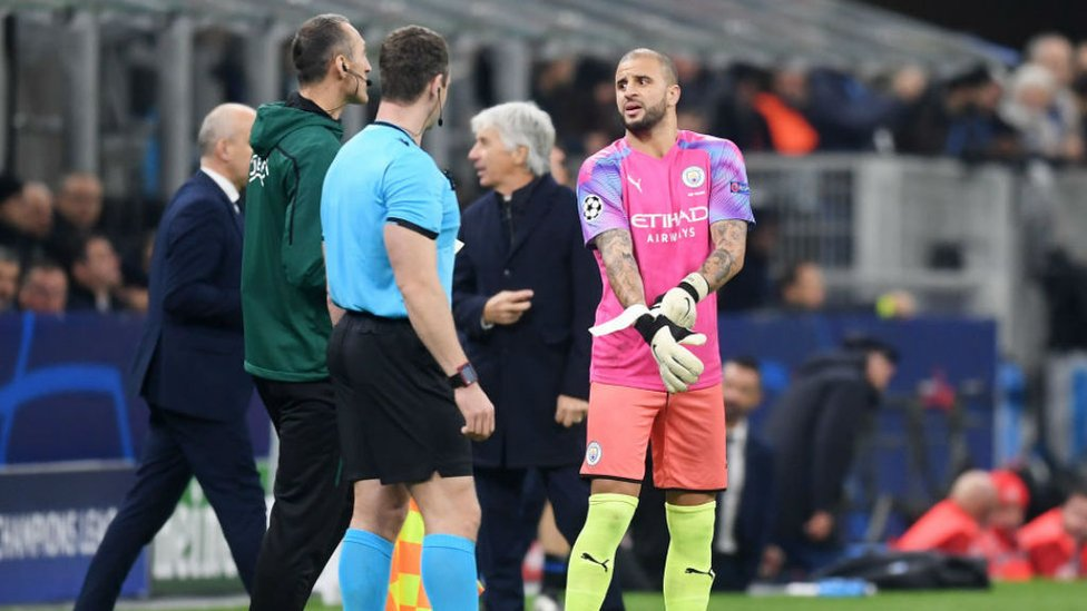 SUPER SUB : Kyle Walker came off the bench to deputise in goal for the last 10 minutes.