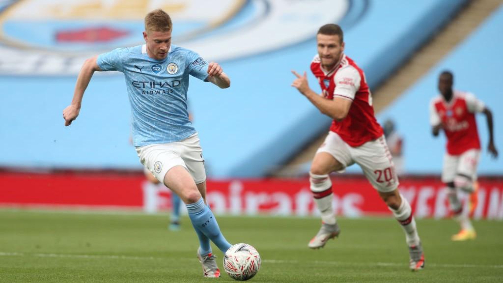 Kevin de Bruyne en acción en la semifinal.