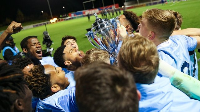 AT LAST : After four final defeats, this FA Youth Cup final victory was particularly sweet.