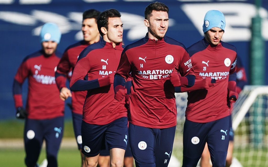 Training: Squad recover after FA Cup exertions