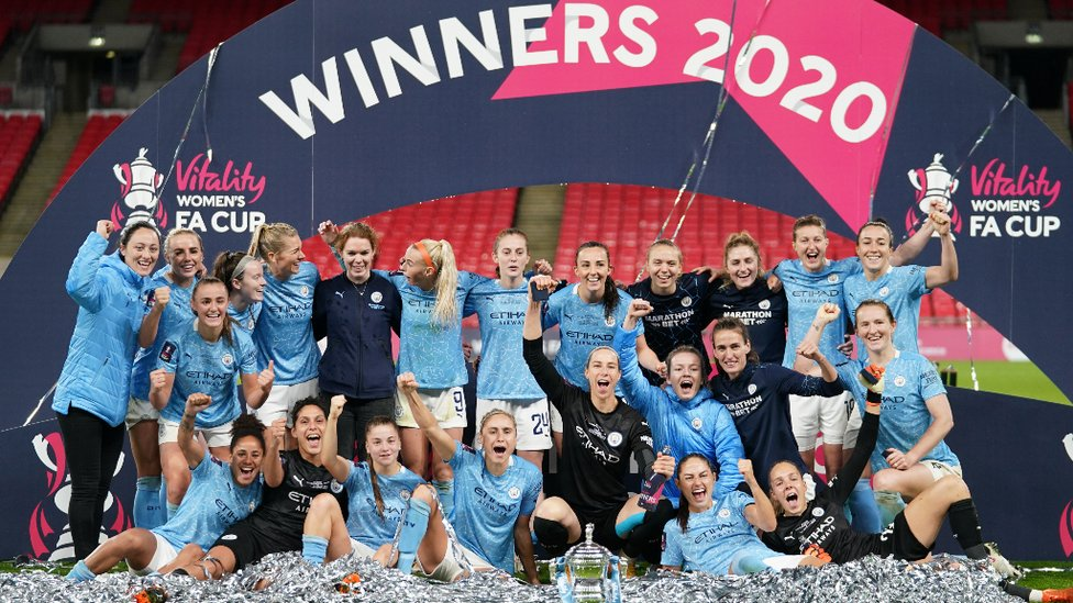 KEEPIE CUPPIE: Goals from Sam Mewis, Georgia Stanway and Janine Beckie help City retain the FA Women's Cup with a 3-1 extra time win over Everton