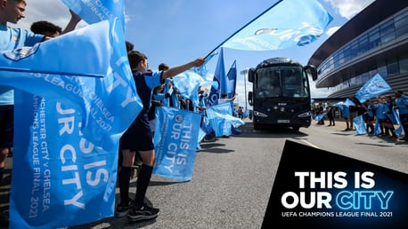 City depart for the Champions League final