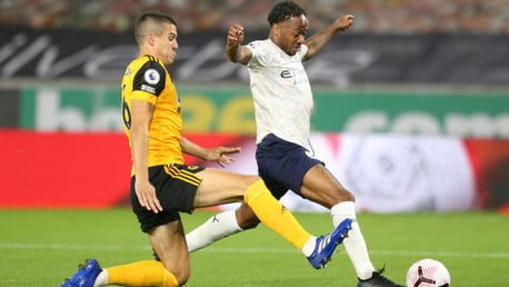 ACTION MAN: Raheem Sterling takes the early fight to Wolves