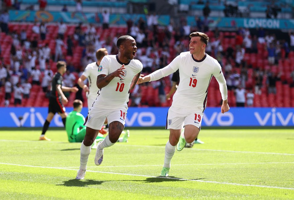 STERLING WORK : Raheem Sterling set England off and running with a 1-0 win over Croatia