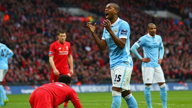 WORTH A SHOUT : Ferna was on the score sheet at Wembley as we tasted Capital One Cup final success against Liverpool in 2016