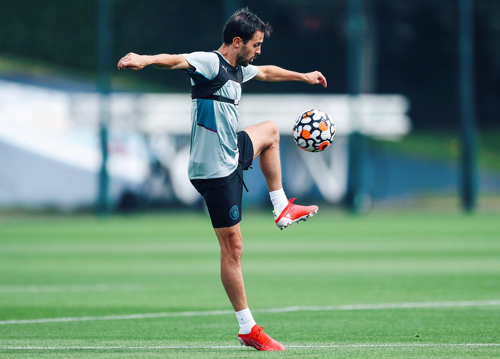 BACK IN BUSINESS: The welcome sight of Bernardo Silva back on the CFA training pitches