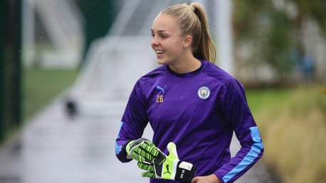 SHE'S A 'KEEPER: Ellie Roebuck says City are more than ready to face Champions Arsenal