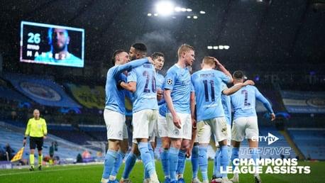 Lima Assist Terbaik City di Liga Champions
