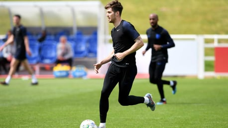 ENGLAND CALLING: John Stones in Three Lions training.