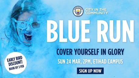 Bag a Blue Run Early Bird discount!