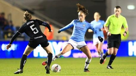 BELGIAN BLUE: Tessa Wullaert in action against Bristol City
