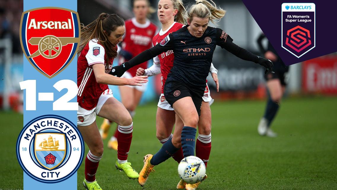 Match highlights: Arsenal 1-2 City