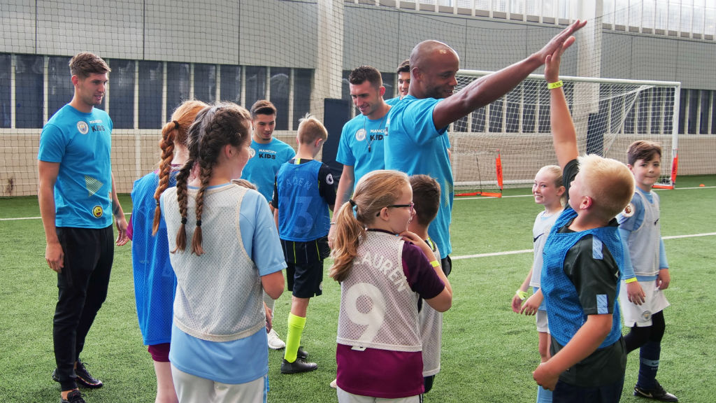 CAPTAIN FANTASTIC : Vincent Kompany meets and greets some of the Junior Cityzens winners
