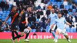 AGUEROOOO: The Etihad erupts as Aguero scores in his final league match for City.