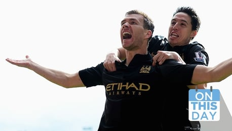 On this day: Dzeko helps down Palace and Law confirms United relegation