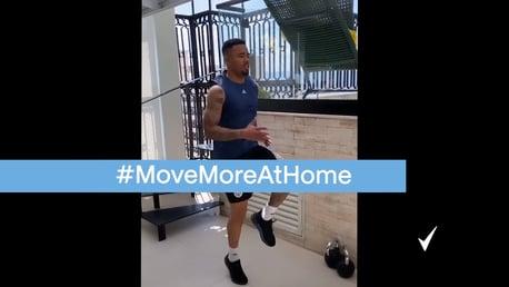 #MoveMoreAtHome with Jesus, Coombs, Lescott & Rodrigo