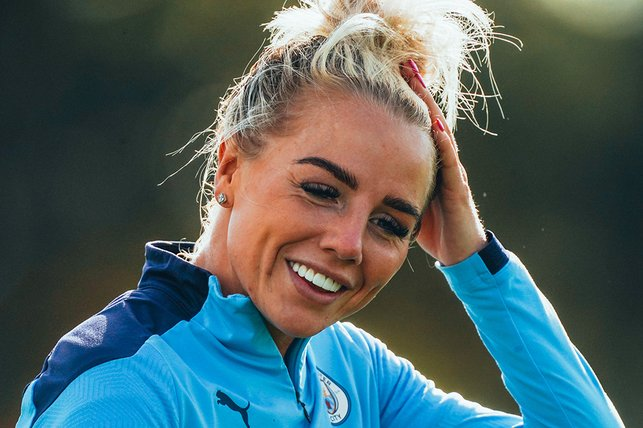 GREEN(WOOD) MACHINE : Alex Greenwood is enjoying her time back in Manchester