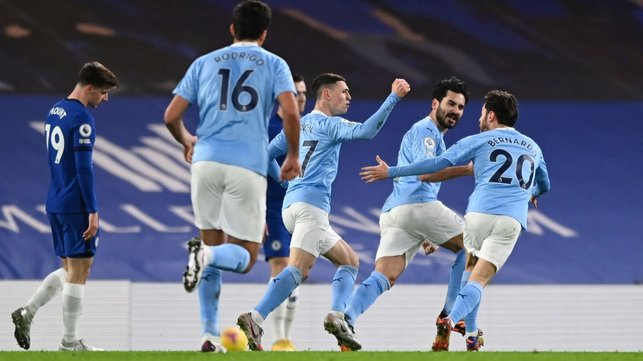 GUNNING FOR GLORY: Gündoğan wheels away after grabbing the opener