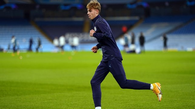 CALLED UP : Youngster, Cole Palmer getting ready for action in the pre-match warm up