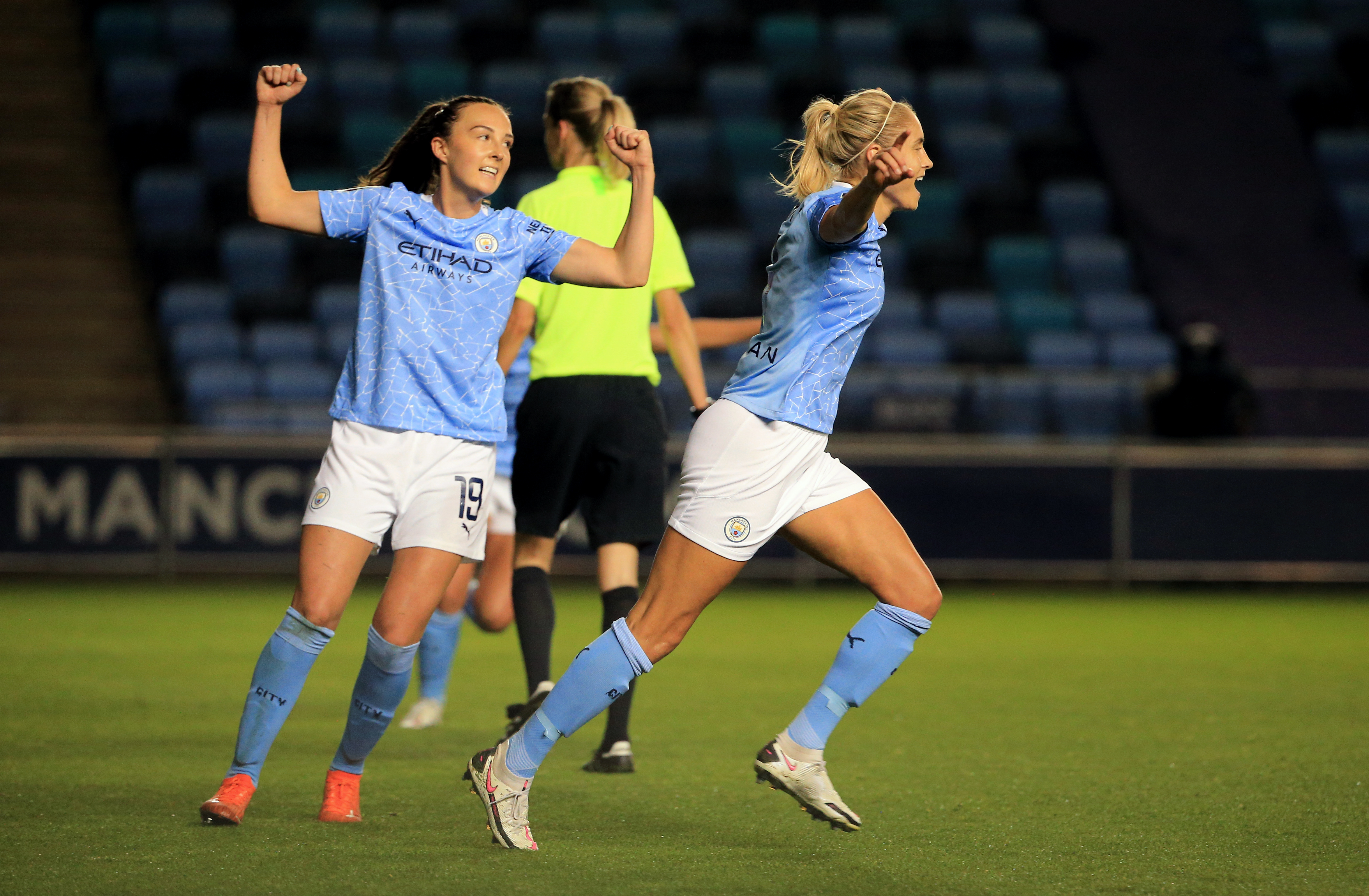 Houghton and Mewis fire City to FA Cup Final