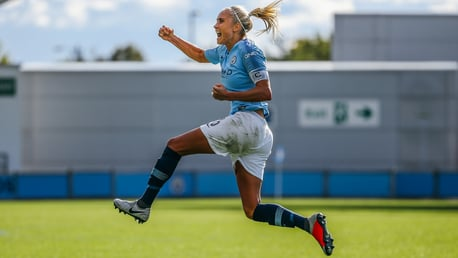 COMETH THE CAPTAIN: Steph Houghton netted an absolute worldie to level late on against Bristol City