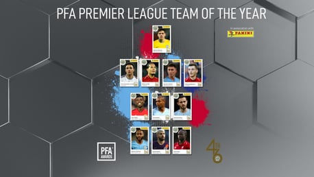 TEAM OF THE YEAR: Six City players have been selected for the PFA Team of the Year