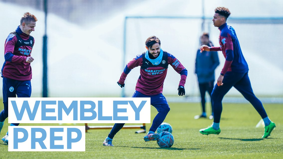 Friday training: Wembley here we come!