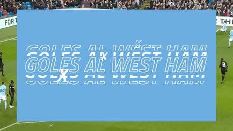 Goles recientes al West Ham