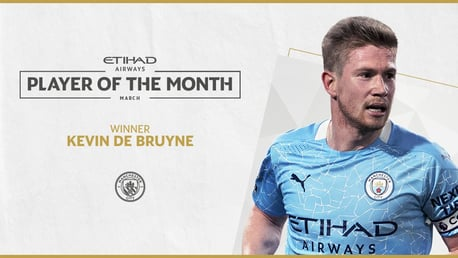 De Bruyne wins Etihad Player of the Month