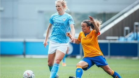 INSTANT IMPACT: New signing Sam Mewis made her presence felt straight away after coming on as a substitute