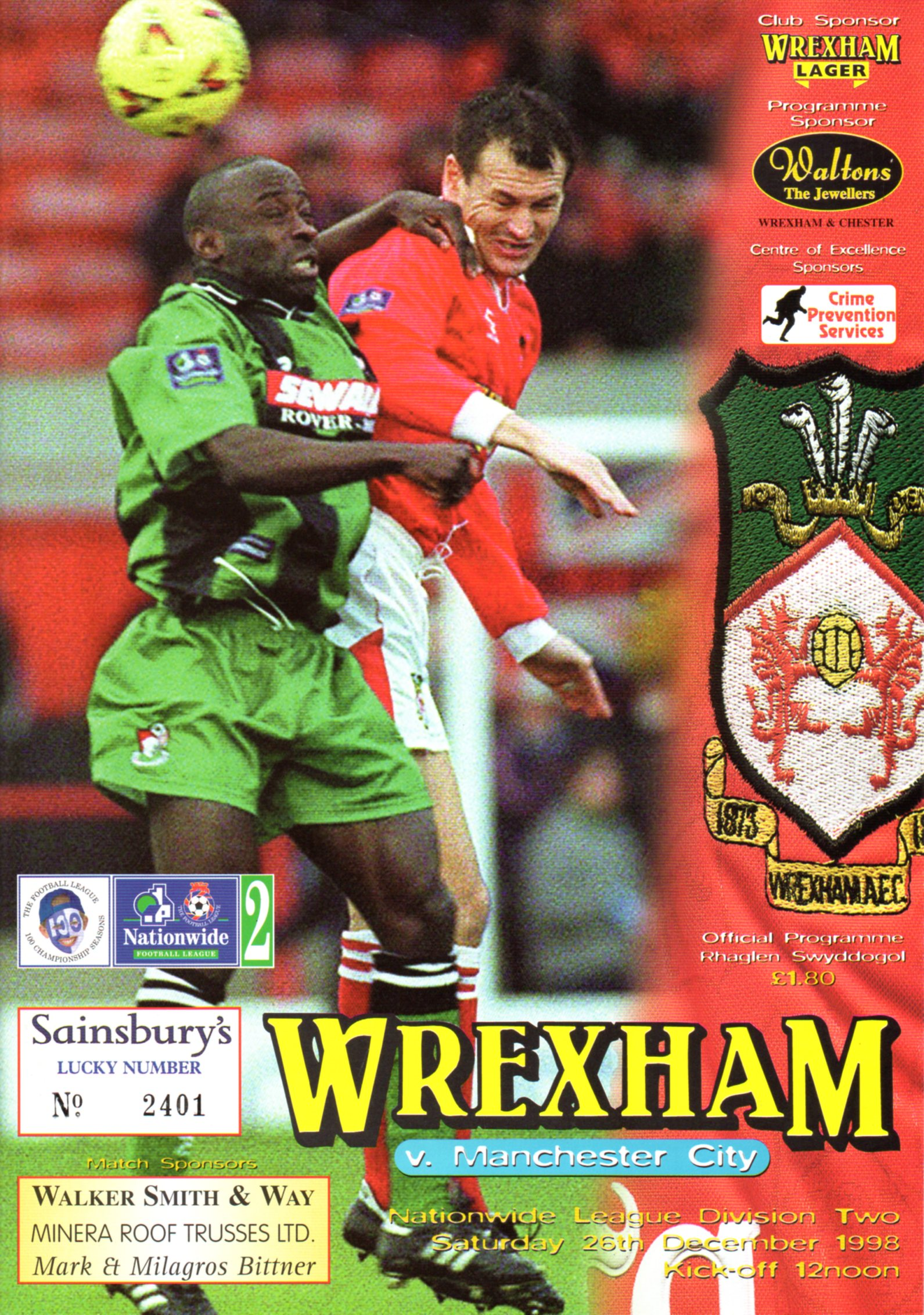 12 games of Christmas: A watershed win at Wrexham