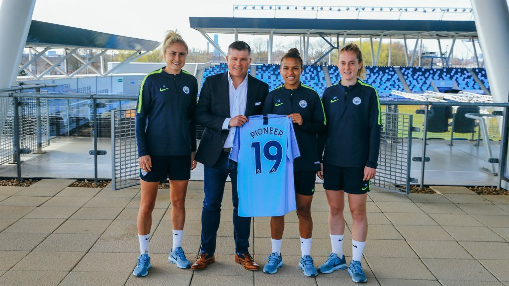 EXTENSION: Pioneer Group has renewed their partnership with Manchester City's women's team.