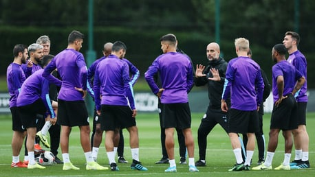 PROMPTS FROM PEP: The boss gives out instructions to the team
