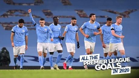 Regardez tous les buts inscrits par Man City en Premier League en 2020