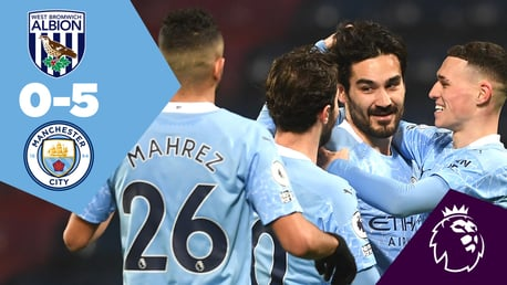 West Brom 0-5 City: Full-match replay