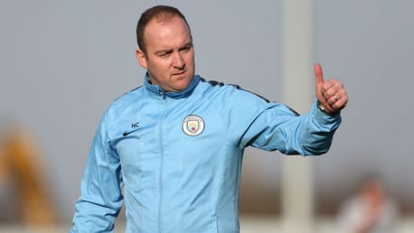 THUMBS UP: Nick Cushing's Manchester City side are going to Wembley!