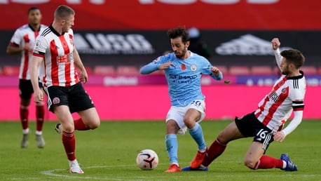 TRICK AND TREAT: Bernardo Silva dances through the Sheffield United ranks