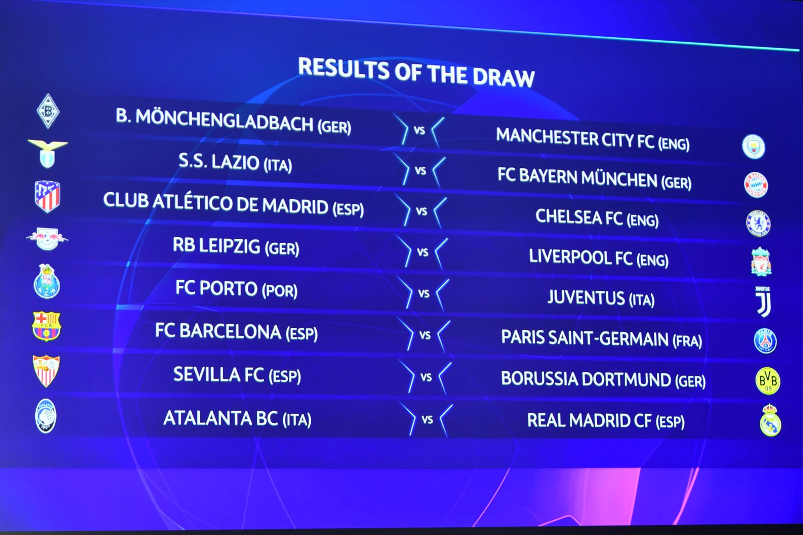 Champions League last-16 dates confirmed