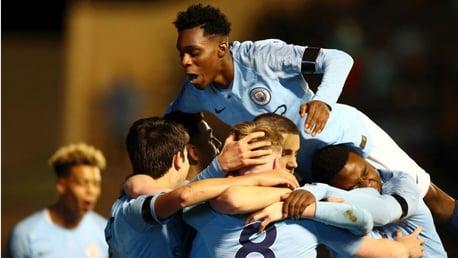 City U18s v United: Match highlights