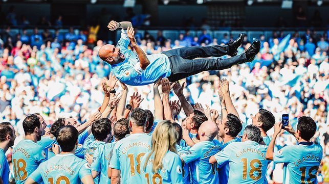 Champions! : Pep gets 'the bumps' after his first Premier League title