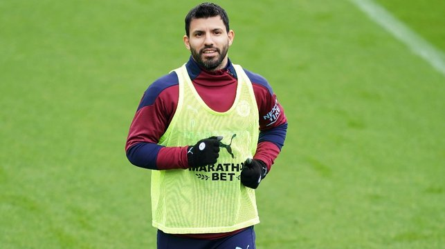 SUPER SERGE: Our record goalscorer gets ready for the session