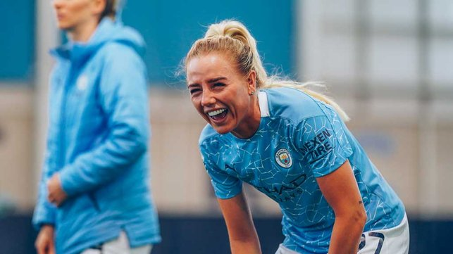 LOL: : ...which Alex Greenwood finds funny!