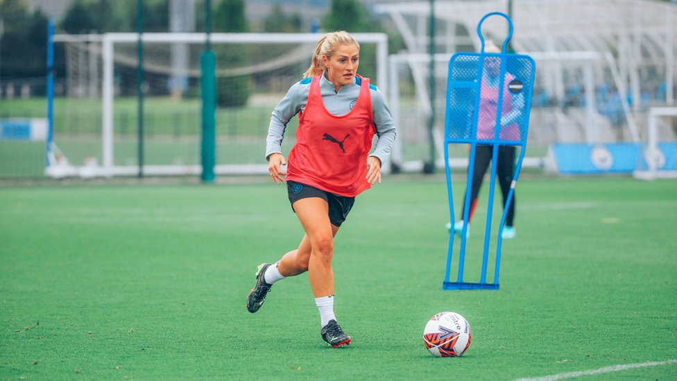 COOMBS AS ICE : Laura Coombs penned a new two-year deal with the Club this summer