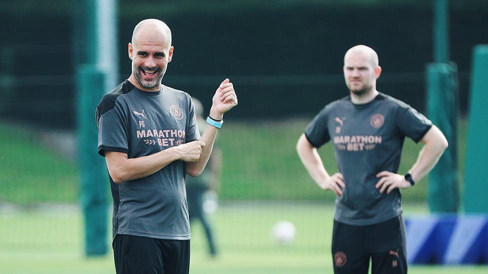 화요일 훈련에 보여준 과르디올라 감독의 긍정 기운!
