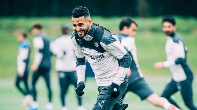 MAH-RVELLOUS  : Riyad enjoying himself at the CFA.