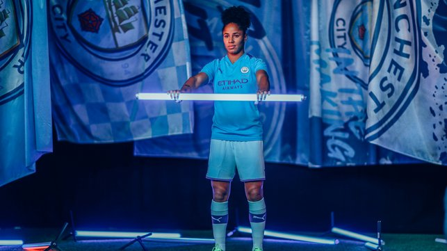 ALL LIT UP : Demi Stokes looks in the mood for the season opener